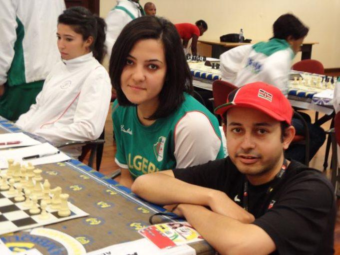 Mehul Gohil with WIN Mezioud Amina from Algeria.