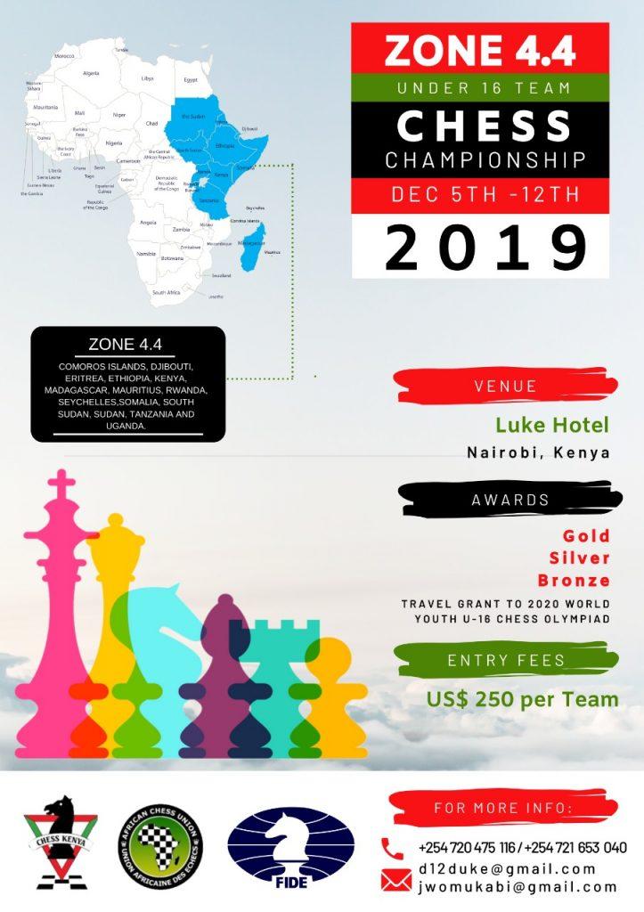 Zone 4.4 U16 Team Chess Championship poster.