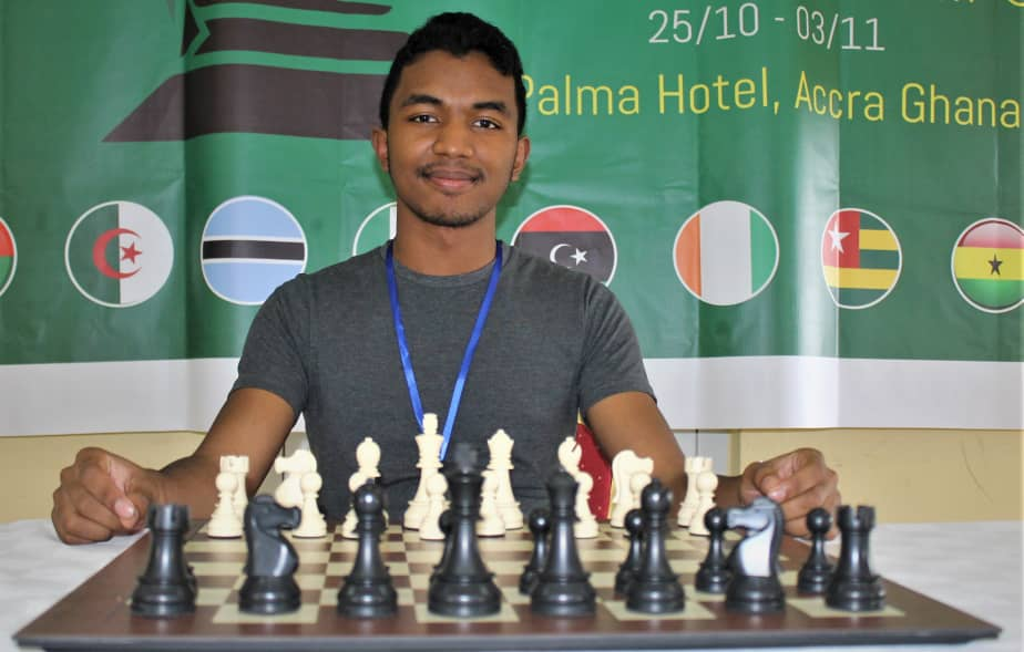 IM Fy Antenaina Rakomaharo of Madagascar seeking his maiden African Junior title.  Photo Credit: Ogunsiku Babatunde.