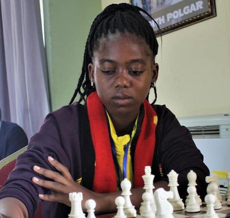 Luiza Pires of Angola and who is rated at 1924.  Photo Credit: Ogunsiku Babatunde.