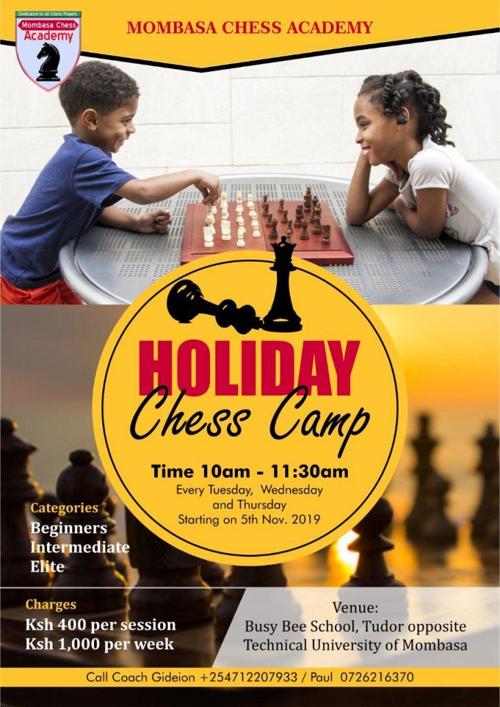 Mombasa Chess Academy poster.