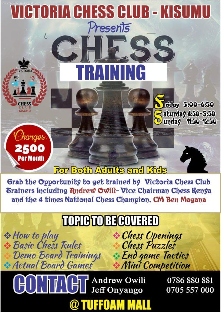 Victoria Chess Club training poster.