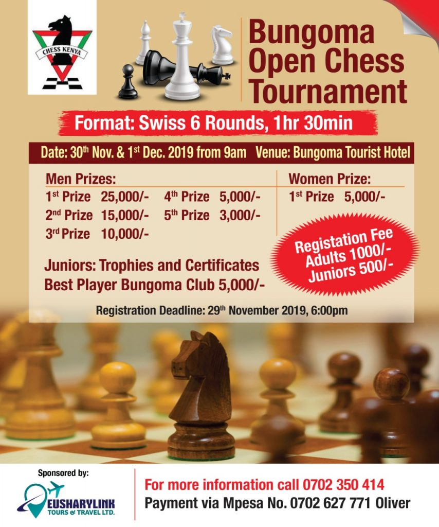 Poster of the 2019 Bungoma Open.