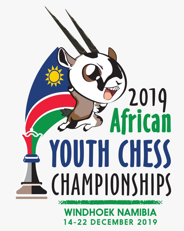 Poster for the 2019 African Youth Chess Championship.