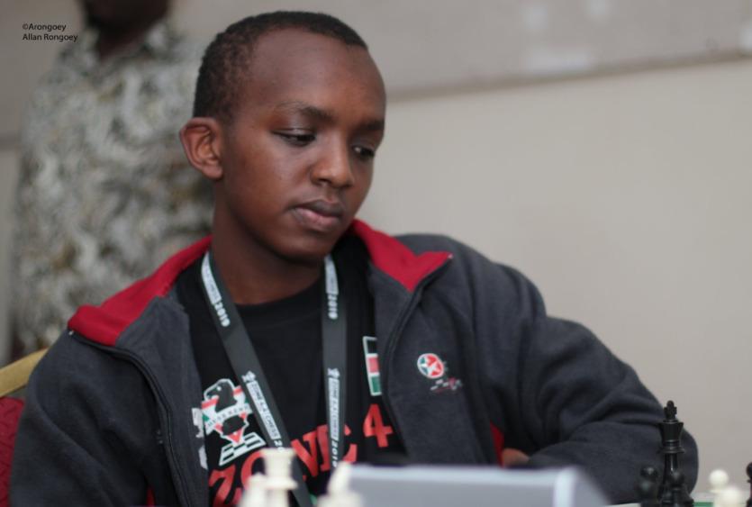 CM Jeff Gichuki who is one of Kenya's top junior players representing Team Kenya Blitzkrieg. Photo credit Allan Victor Rongoey.