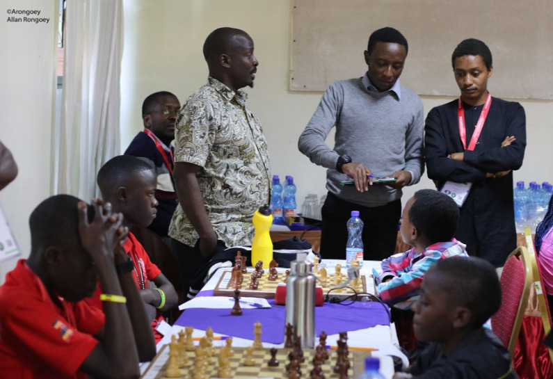 The playing hall of the Zone 4.4 U16 Team Chess Championship. Photo credit Allan Victor Rongoey.