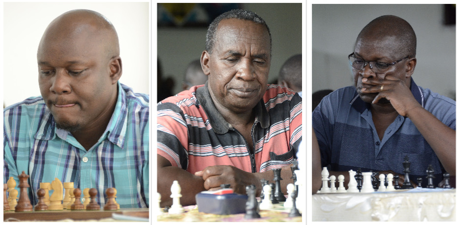 Coming out of retirement. From left Nathan Ateka, Clement Miheso and Rodgers Adai. Photo credit Kim Bhari.