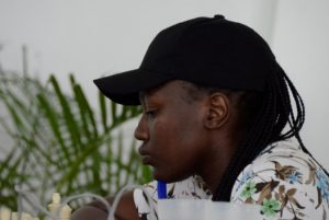 WFM Joyce Nyaruai one of the top Kenyan players who are taking part. Photo credit Kim Bhari.