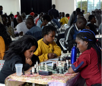 The Ladies Section of the 2019 Kenya National Chess Championship.  Photo credit Kim Bhari.