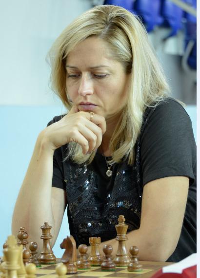 WGM Natalia Zhukova at the Batumi Olympiad. Photo credit Kim Bhari.