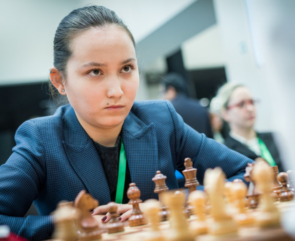 Zhansaya Abdumalik of Kazakhstan who is a former World Junior Champion.