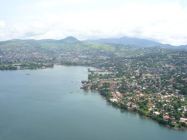 View of Freetown. Photo credit https://kids.kiddle.co/Freetown