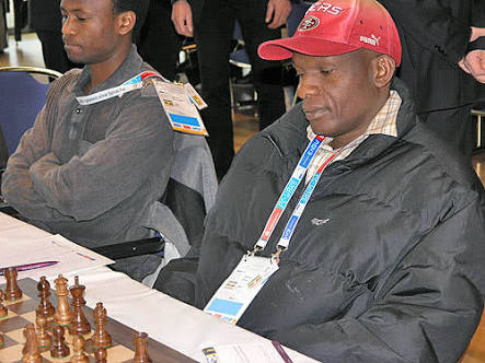 Photo of the late Shadrack Kantinti in action during the 2008 Olympiad in Dresden, Germany.  Photo credit Daaim Shabazz.
