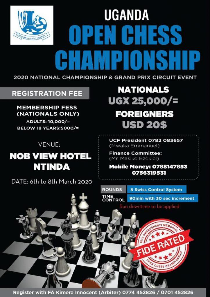Poster for the Uganda Open.