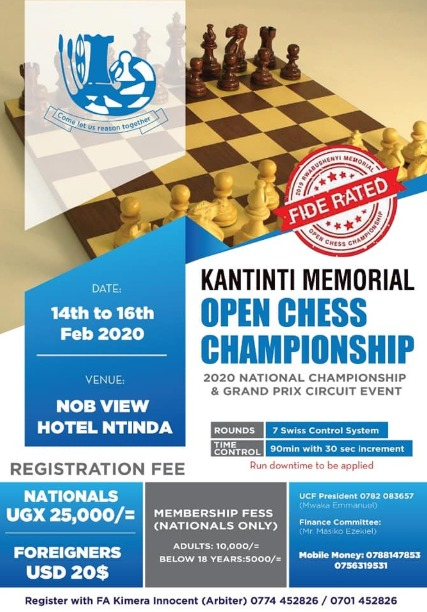 Poster of the Kantinti Memorial Chess Championship.