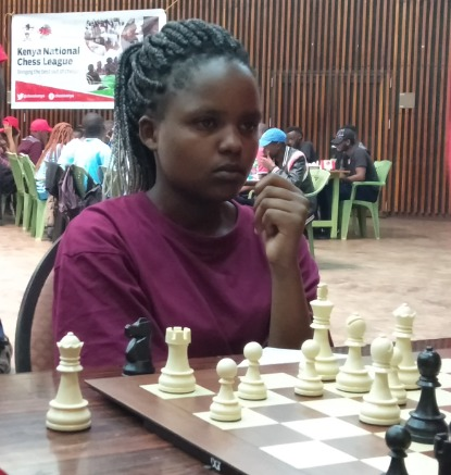 Julie Mutisya who is making her maiden appearance for the Kenya Olympiad Team. Photo credit Kim Bhari.