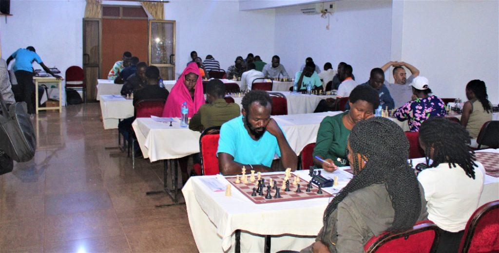 Photo from the Uganda Open. Photo credit Uganda Chess Federation.