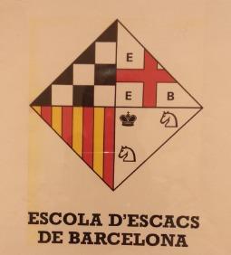 Logo for L'Escola D'Escacs De Barcelona.