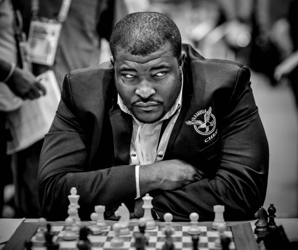 CM Charles Eichab from Namibia in action. Another fine photo representing African Chess.