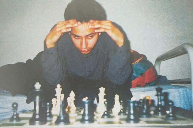 Mehul Gohil in a photo dated in the late 1990's.