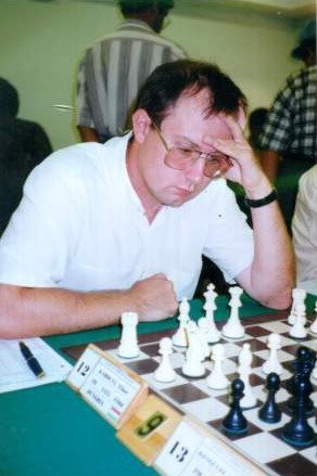 Tibor Karolyi in action during a tournament in Spain in 1998.