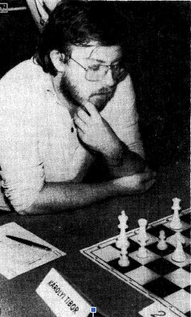 Tibor Karolyi on way to victory in the 1984 Hungarian Chess Championship.