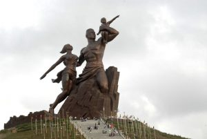 The African Renaissance Monument built in 2010 in Dakar is the tallest statue in Africa.