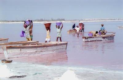 Le Lac Rose (Lake Retba), Senegal.