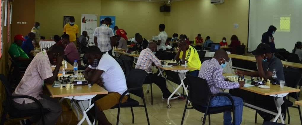 The playing hall for the 2020 Malawi National Chess Championship.