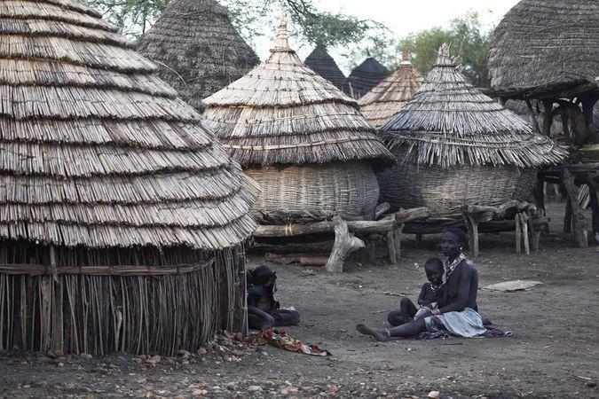 A village in South Sudan.