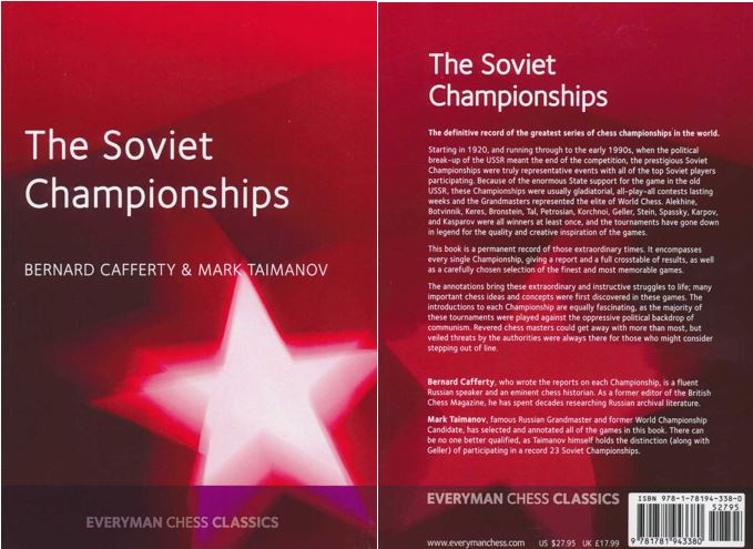 The Soviet Championships book from Everyman Chess Classics.