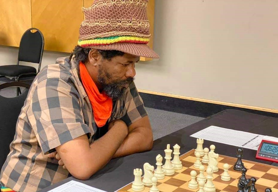 Brian Jaftha in action. Photo credit Namibian Chess Federation.