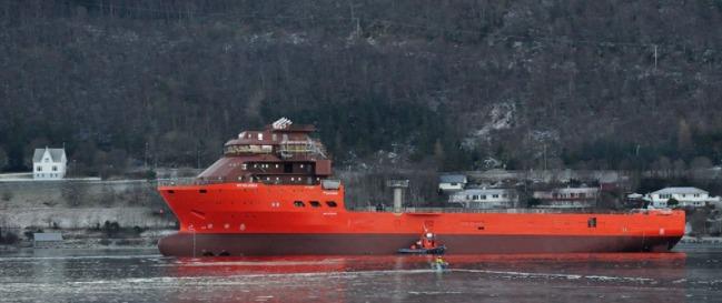 The marine diamond mining ship SS Nujoma. Photo credit www.debeersgroup.com.