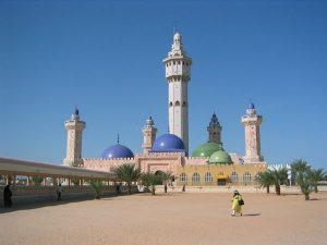 The Great Mosque of Touba, home of the Mouride Sufi brotherhood, it is also one of the finest examples of Islamic architecture in Africa.