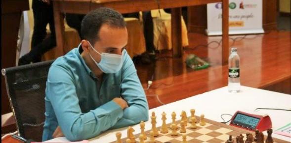 GM Amin Bassem in action. Photo credit Makhosi Nyirenda.