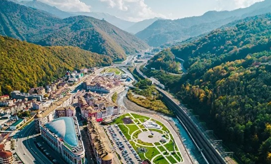 Krasnaya Polyana where the event will be taking place. Photo credit FIDE.