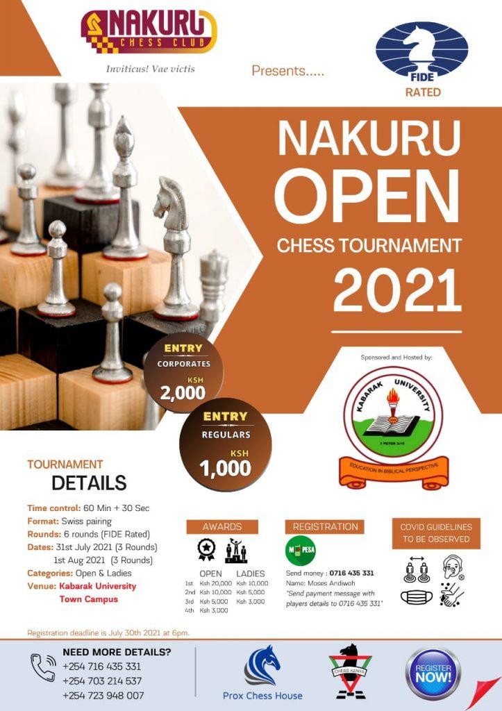 Poster of the Nakuru Open.