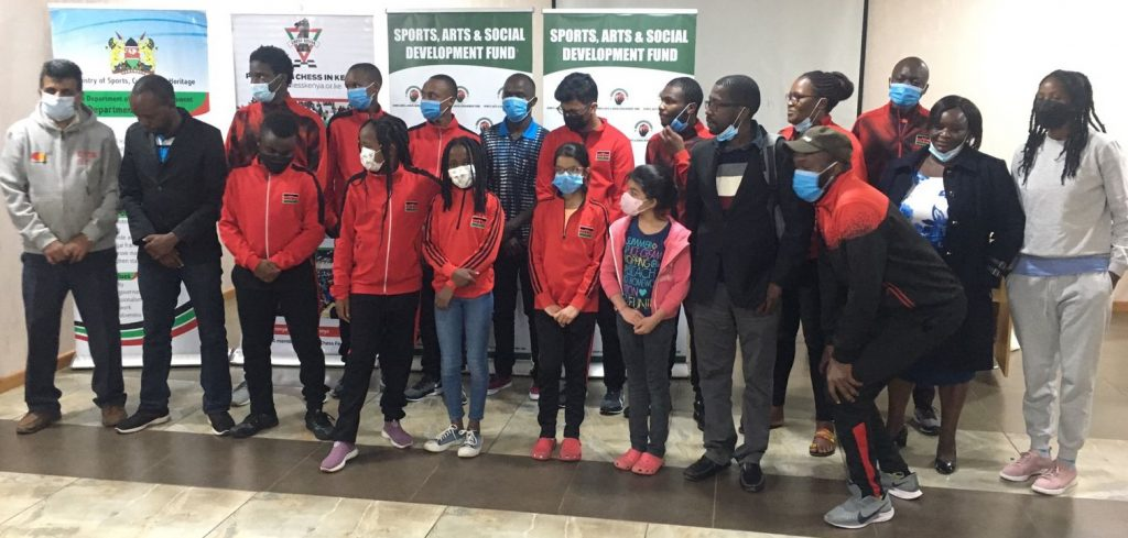 Some of the Kenya's top junior chess players pose for a photo. Photo credit Chess Kenya.