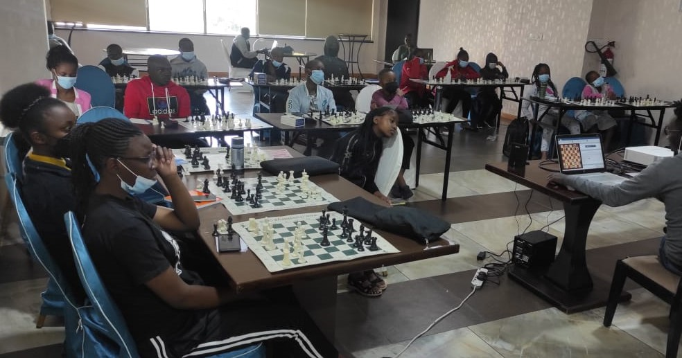Kenya National Youth Chess Team in serious training at The Golden Tulip Hotel in Nairobi before departure.