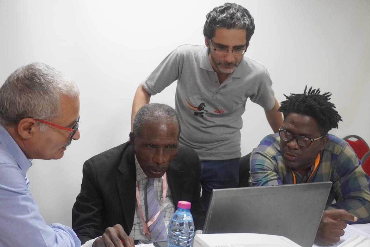 Some of the unsung heroes. The hard working Arbitration Team. From left IA Béchir Messaoudi, FA John Solarays, IA Khaled Hawas and FA Mario Kpan. Photo credit Mario Kpan.
