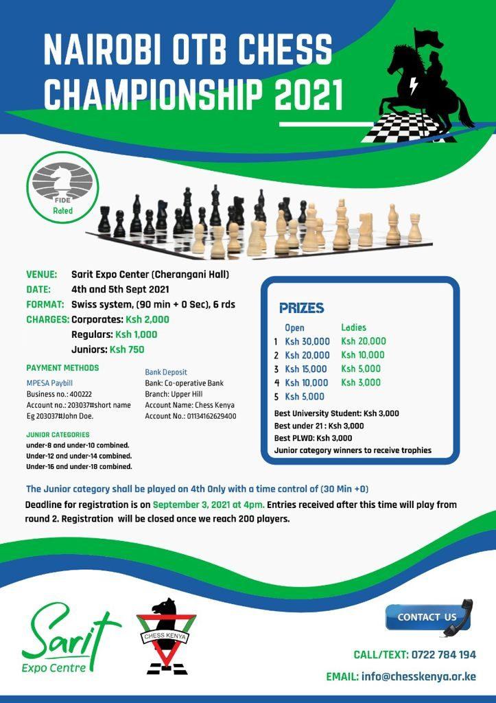 Poster of the 2021 Nairobi Open.