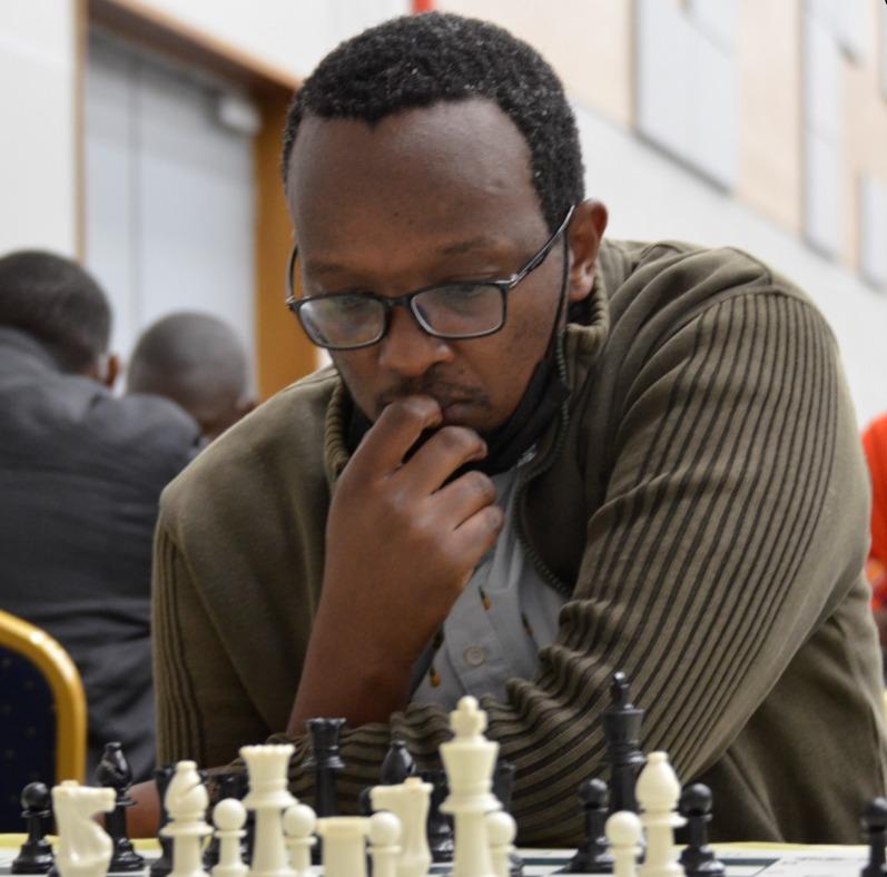 Githinji Hinga in action during the 2021 Nairobi Open.