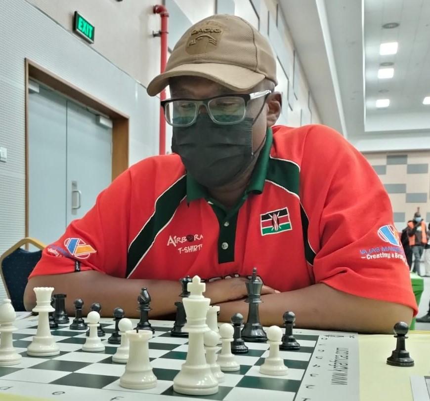 Veteran Larry Kagambi in action.