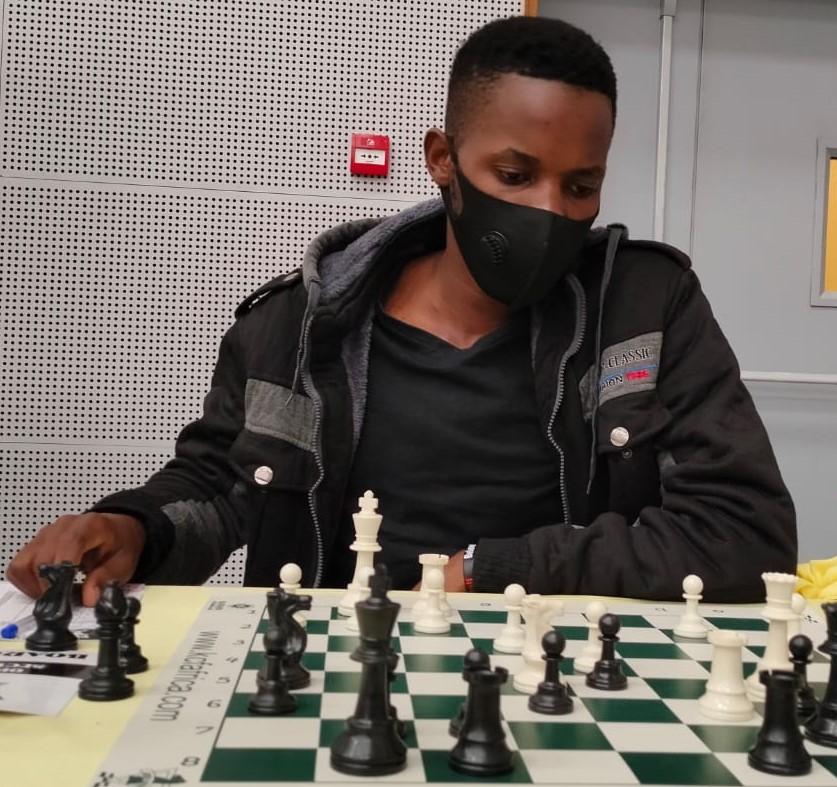 Emmanuel Musasizi in action.