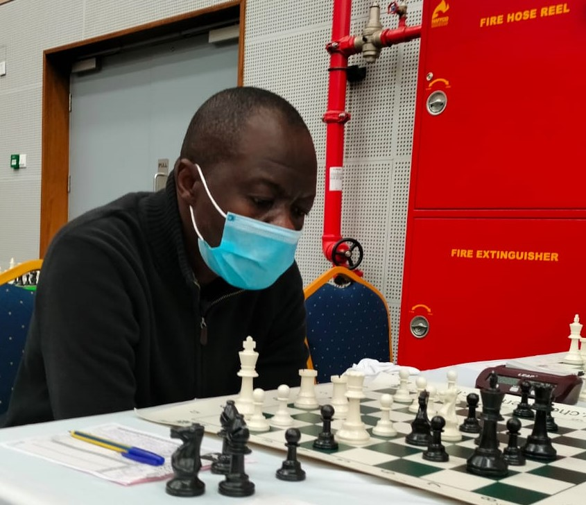 George Ochieng in action and wondering if he needs to take out the fire extinguisher!