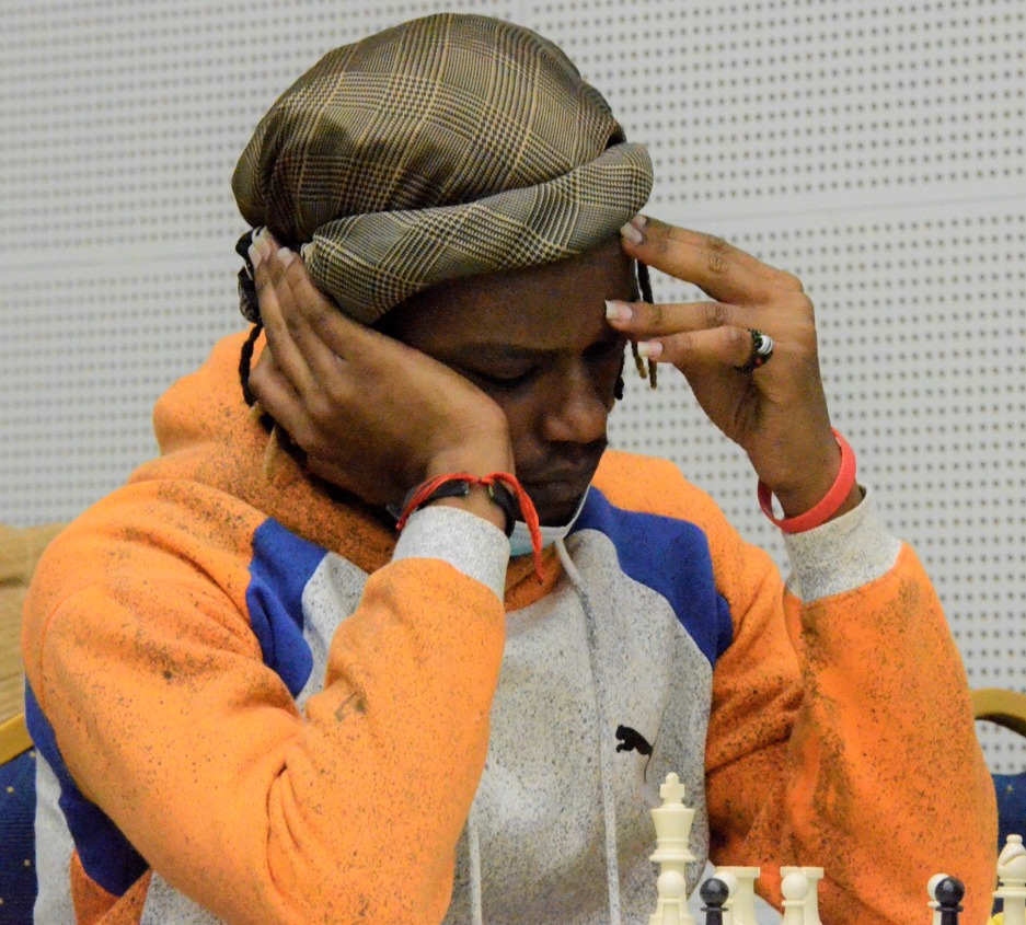 Martin Njoroge who ended up with 5.5 points and joint winner of the 2021 Nairobi Open.