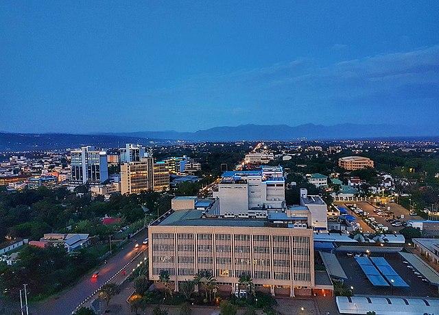 View of Kisumu town. Photo credit Wikicommons.