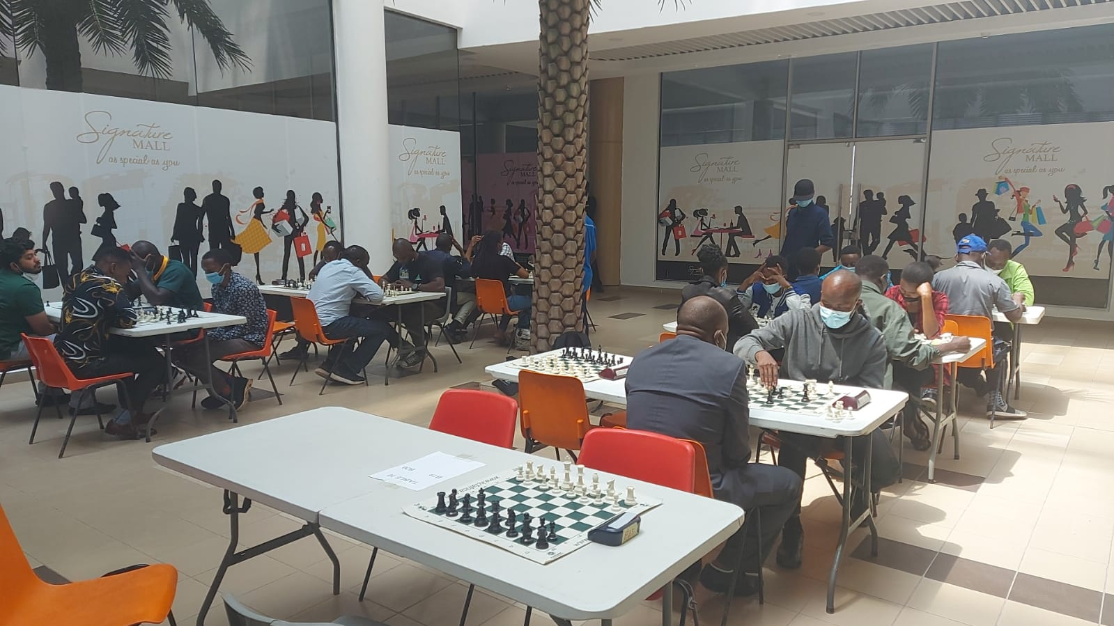 Playing hall at the Signature Mall.