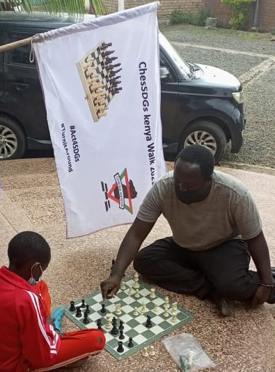 Fred Sagwe plays some chess at the Betty Mavity Roberts Education Centre which was his final destination.